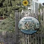 Sign showing Parkview Neighbourhood Garden